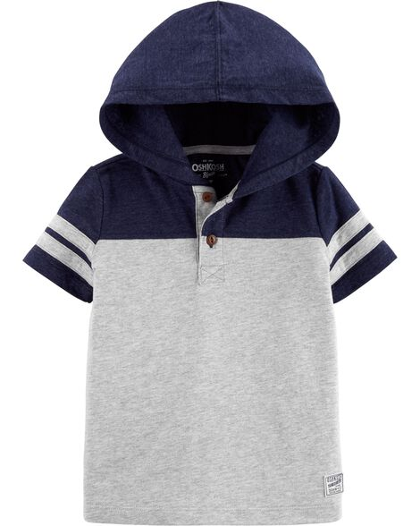 Display product reviews for Short Sleeve Hooded Henley Pullover