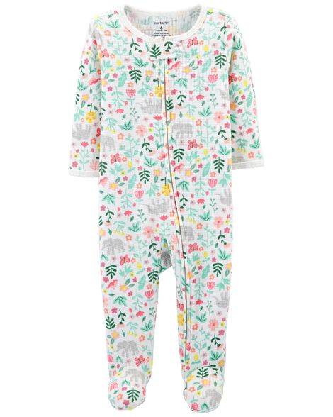 Display product reviews for Floral Zip-Up Thermal Sleep & Play