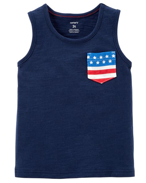 Display product reviews for American Flag Pocket Tank