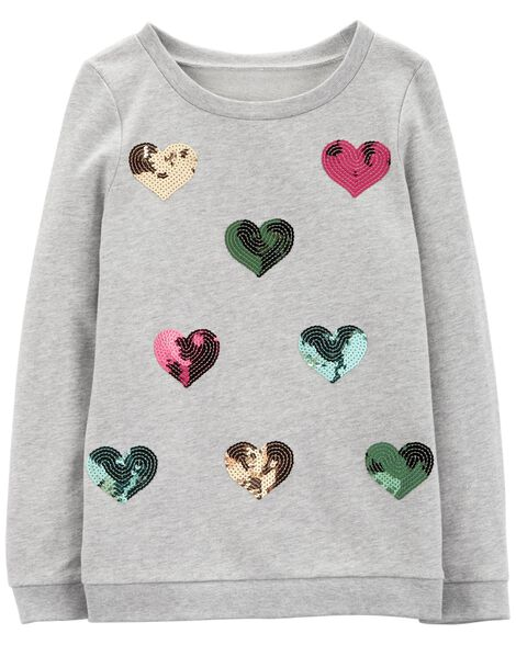 Display product reviews for Sequin Heart French Terry Pullover