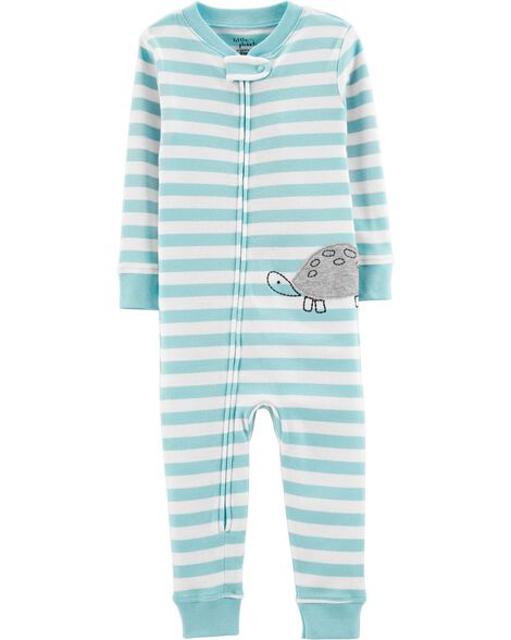 Display product reviews for 1-Piece Certified Organic Cotton Snug Fit Footless PJs