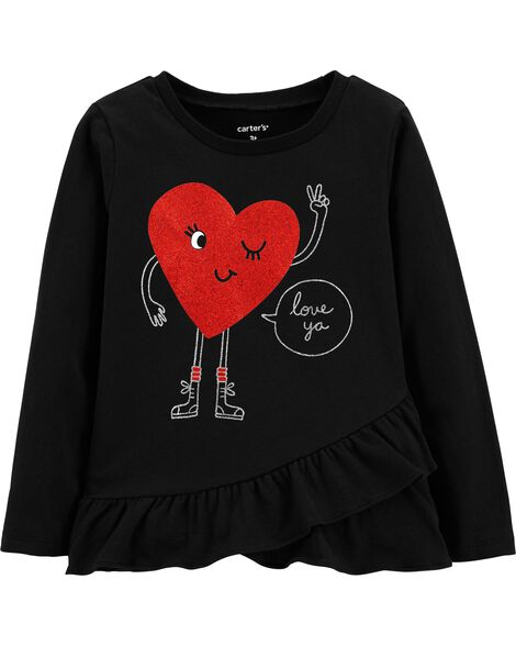 Display product reviews for Heart Ruffle Tee