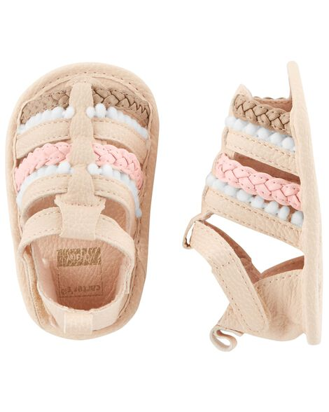 Display product reviews for Carter's Braided Sandal Baby Shoes