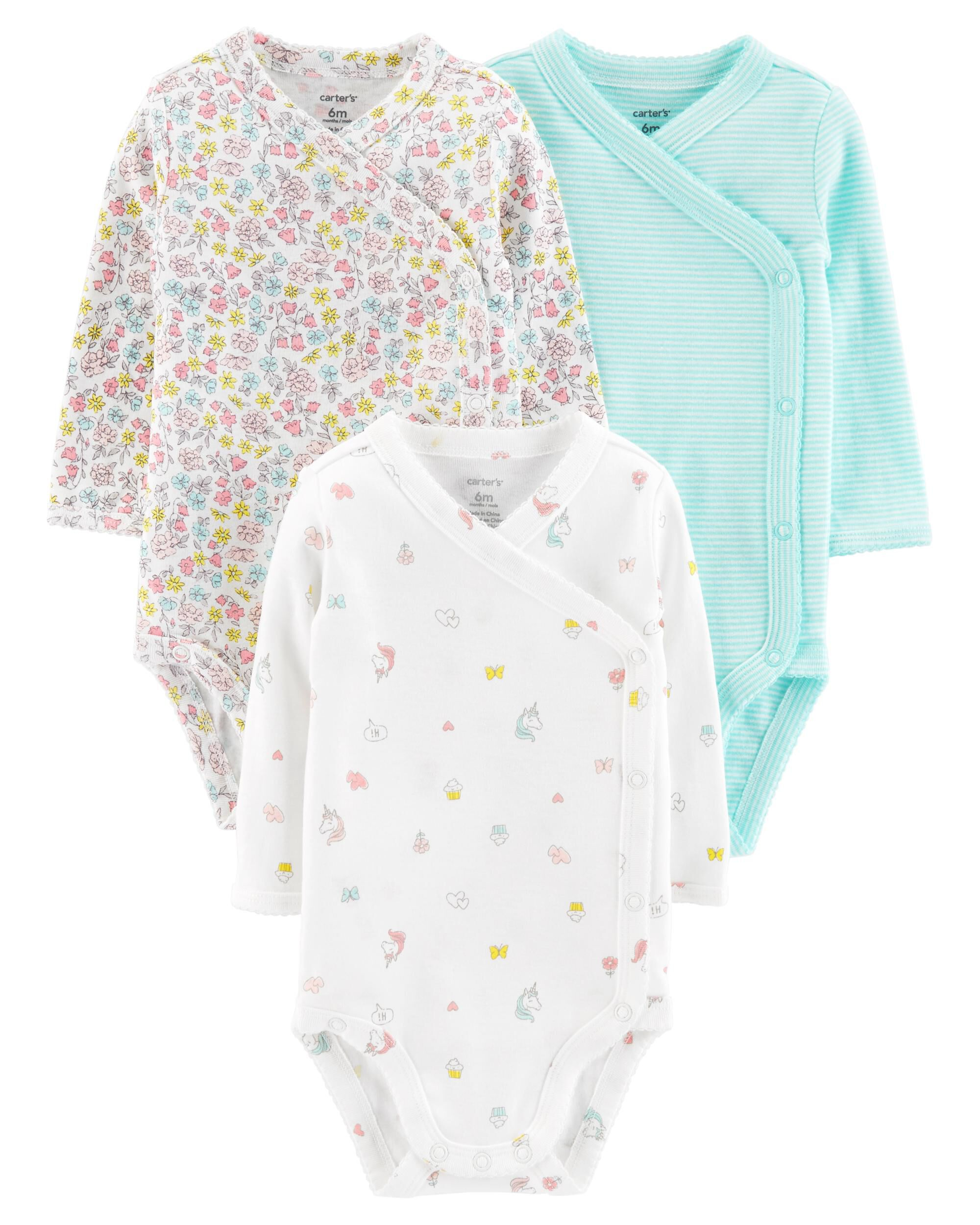 cca27a5bc1 ... 3-Pack Side-Snap Bodysuits ...