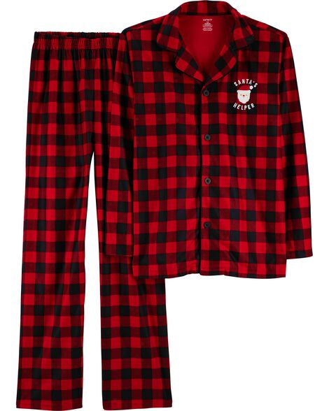 Display product reviews for 2-Piece Adult Christmas Lightweight Fleece PJs