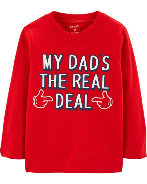 Display product reviews for Dad's The Real Deal Jersey Tee