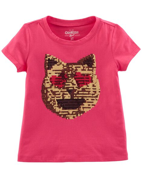 Display product reviews for Sequin Cat Emoji Tee