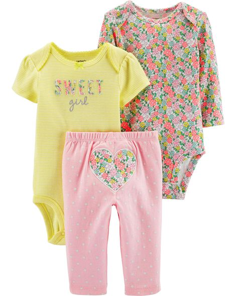 4bc73b5a2b0ac Carters Baby Girls 2Pc Rainbow Unicorn Outfit Set Gray 6 months