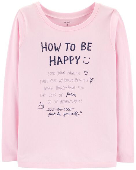 Display product reviews for How To Be Happy Jersey Tee