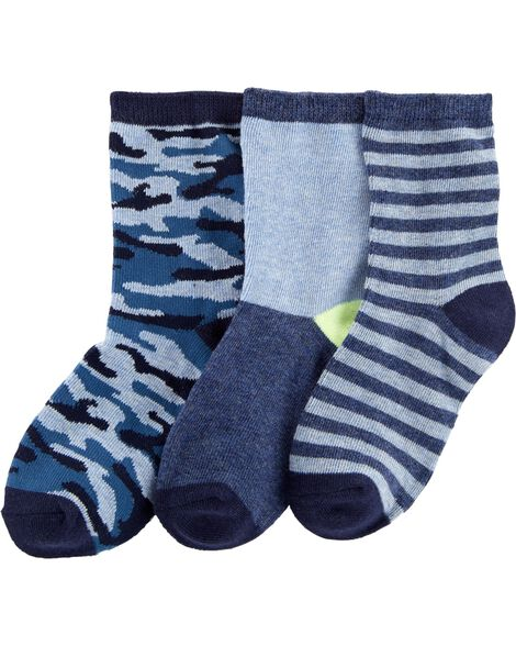 Display product reviews for 3-Pack Camo Crew Socks