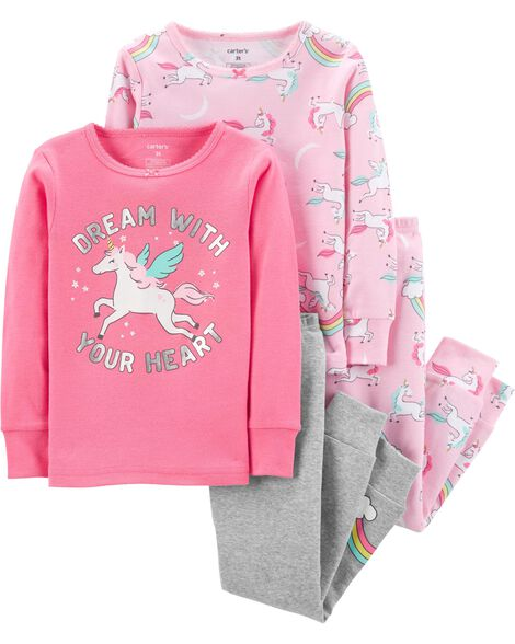 Display product reviews for 4-Piece Unicorn Snug Fit Cotton PJs 7a336c4ed