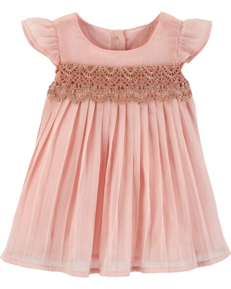 Display product reviews for Shimmer Pleated Dress