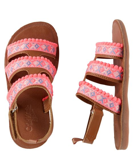 Display product reviews for OshKosh Pom Pom Sandals