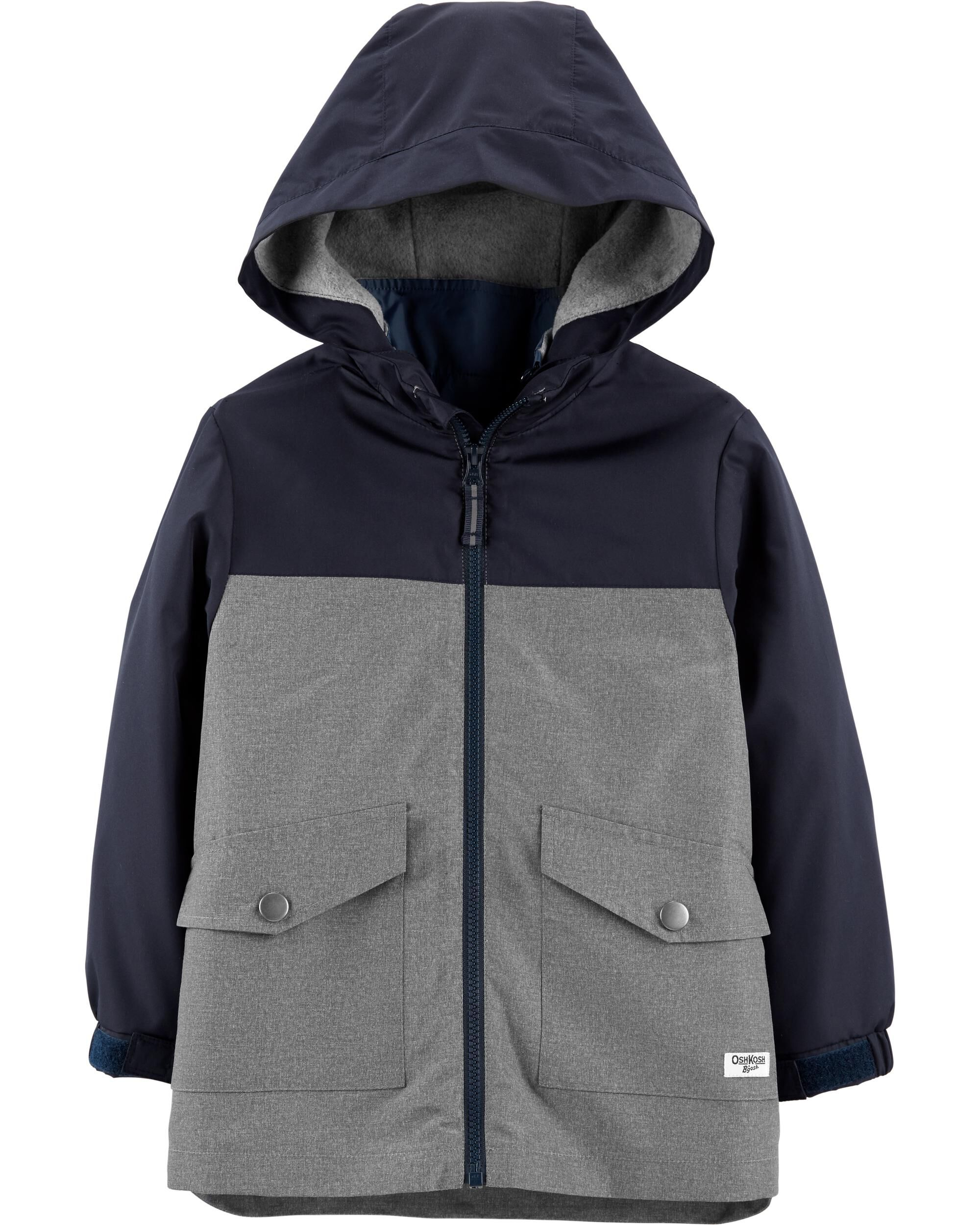 Osh Kosh Little Boys 4-in-1 Heavyweight Systems Jacket Coat Grey 4