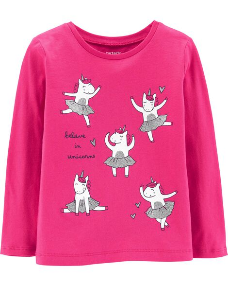 Display product reviews for Glitter Ballerina Unicorn Tee