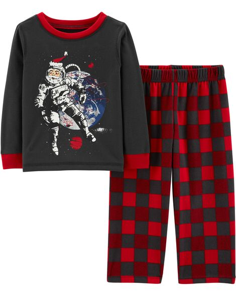 Display product reviews for 2-Piece Santa Astronaut PJs