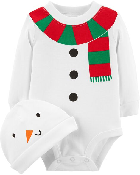 Display product reviews for 2-Piece Snowman Bodysuit & Hat Set