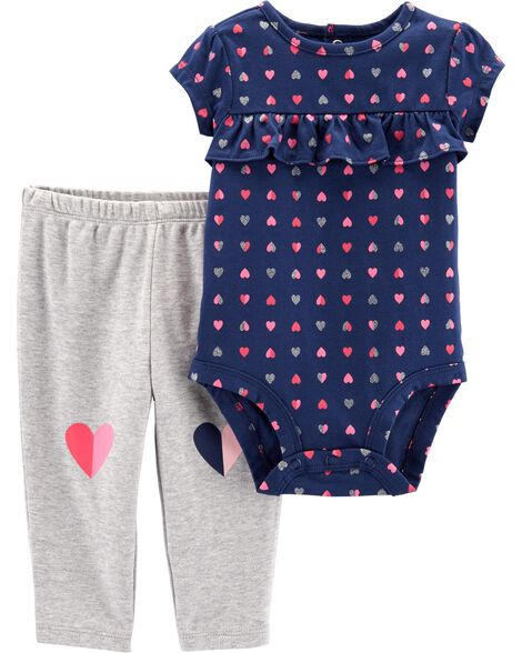 12265f0cc Display product reviews for 2-Piece Heart Bodysuit Pant Set