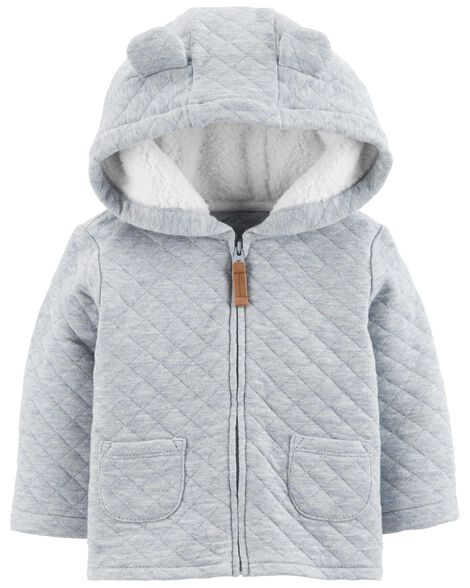 Display product reviews for Zip-Up Quilted Heather Jacket