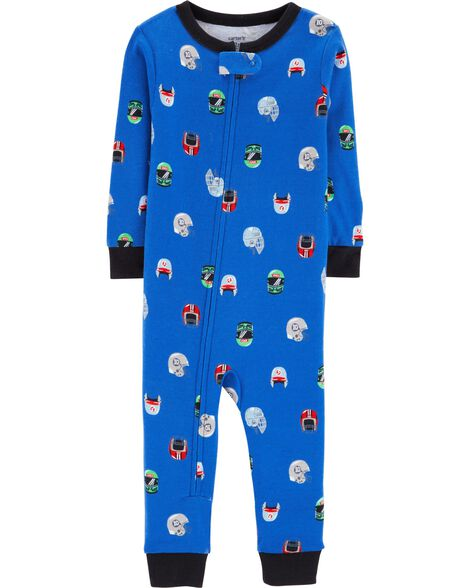 Display product reviews for 1-Piece Football Snug Fit Cotton Footless PJs