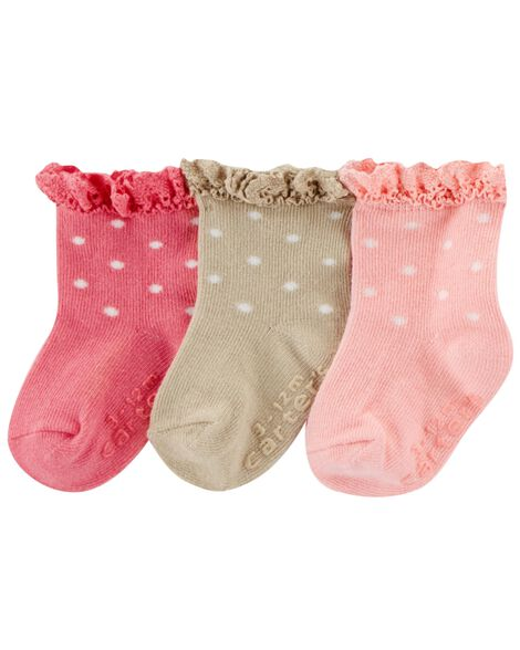Display product reviews for 3-Pack Polka Dot Crew Socks