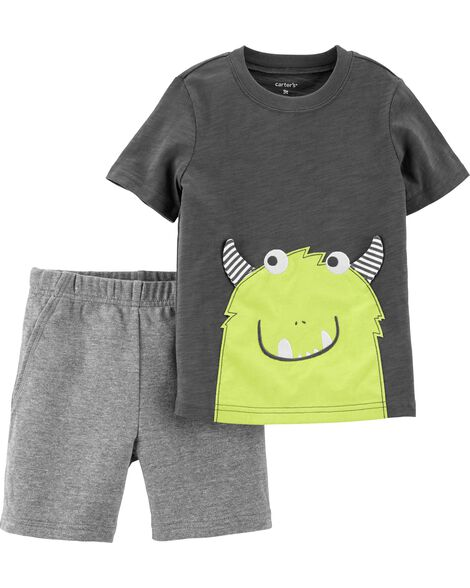 Display product reviews for 2-Piece Monster Slub Tee & French Terry Short Set