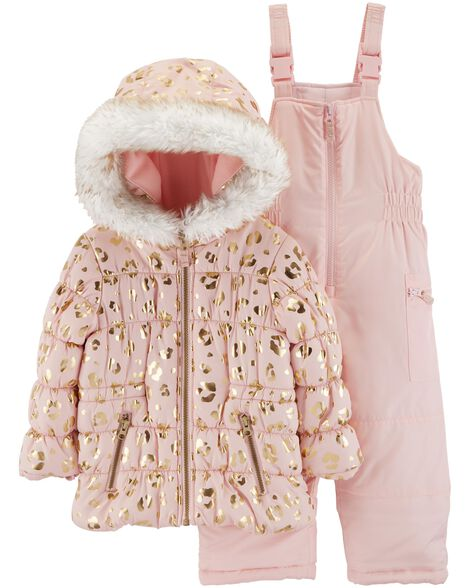Display product reviews for 2-Piece Leopard Snowsuit Set