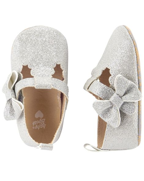 Display product reviews for OshKosh Glitter Mary Jane Crib Shoes