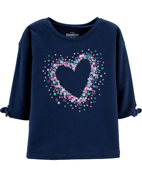 Display product reviews for Tie Sleeve Heart Top