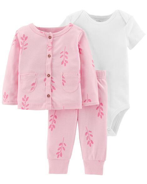 Display product reviews for Certified Organic 3-Piece Little Cardigan Set