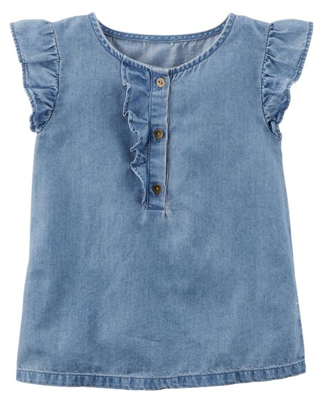 Display product reviews for Flutter-Sleeve Denim Top