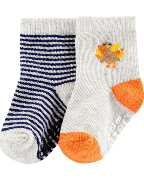 Display product reviews for 2-Pack Thanksgiving Turkey Crew Socks