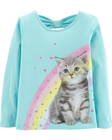 Display product reviews for Rainbow Cat Bow Tee