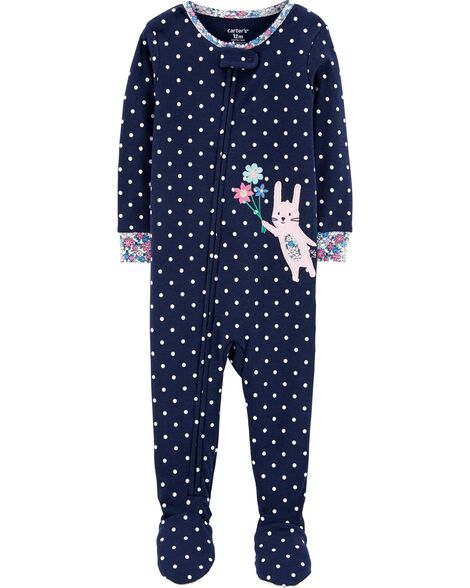 Display product reviews for 1-Piece Bunny Snug Fit Cotton Footie PJs