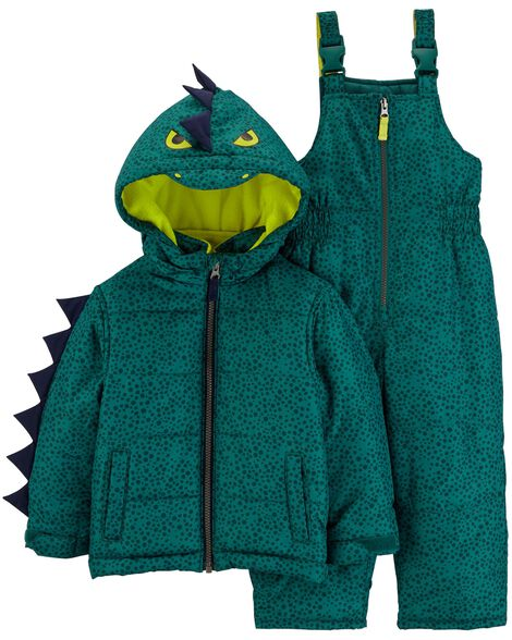 Display product reviews for 2-Piece Dinosaur Snowsuit Set