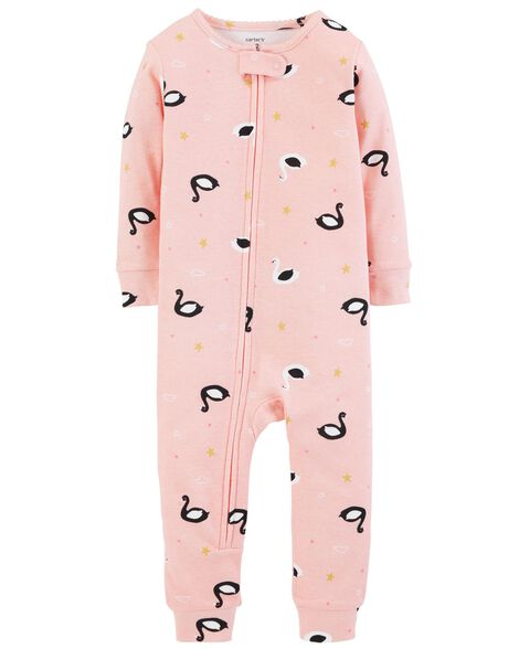 Display product reviews for 1-Piece Swan Snug Fit Cotton Footless PJs