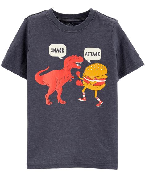 Display product reviews for Snack Attack Dinosaur Layered-Look Tee