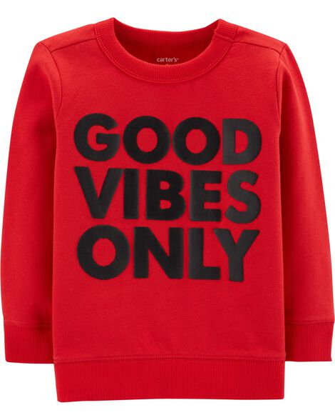 Display product reviews for Good Vibes Only Fleece Pullover
