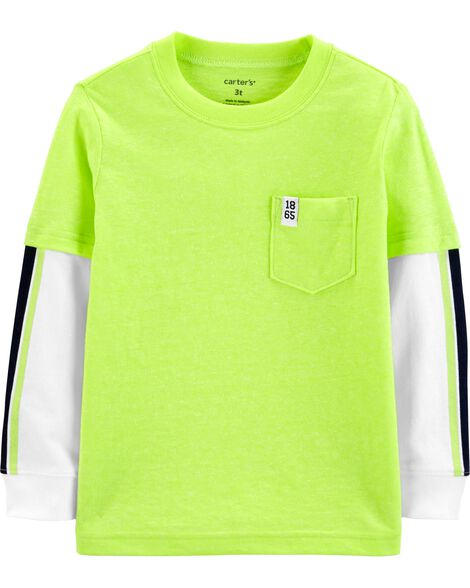 Display product reviews for Neon Layered-Look Snow Yarn Tee