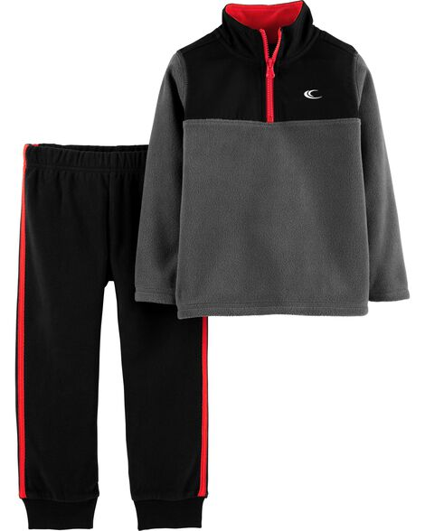 Display product reviews for 2-Piece Half-Zip Pullover & Jogger Set