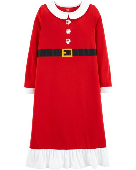 display product reviews for mrs claus christmas poly sleep gown - 12 Month Christmas Dress