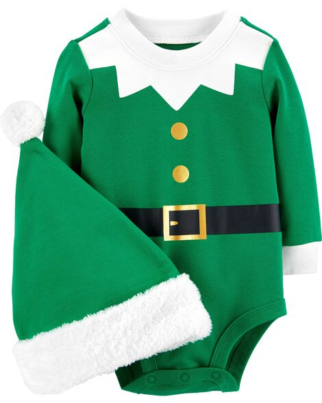 Display product reviews for 2-Piece Elf Bodysuit & Hat Set