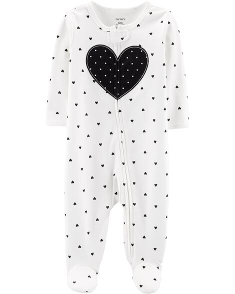 Display product reviews for Heart Zip-Up Cotton Sleep & Play