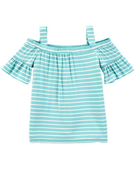 Display product reviews for Striped Cold Shoulder Top