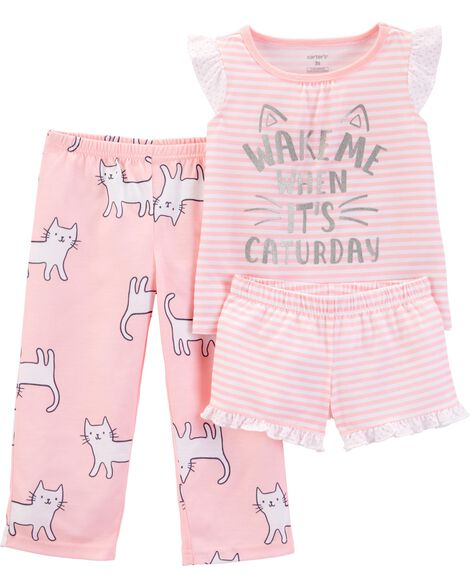 Display product reviews for 3-Piece Cat Poly PJs