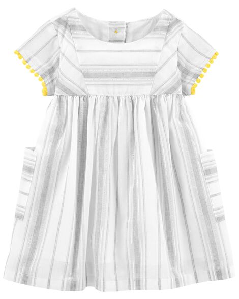 Display product reviews for Metallic Striped Dress