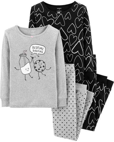 Display product reviews for 4-Piece Hearts Snug Fit Cotton PJs