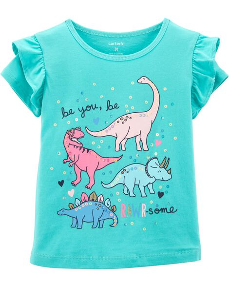 Display product reviews for Dinosaur Flutter-Sleeve Tee