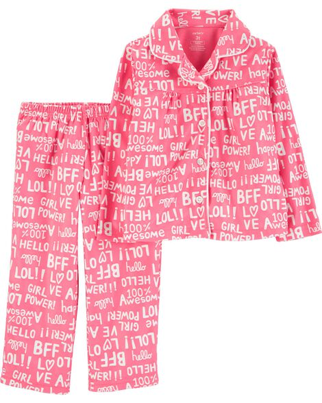 Display product reviews for 2-Piece Girl Power Lightweight Fleece PJs