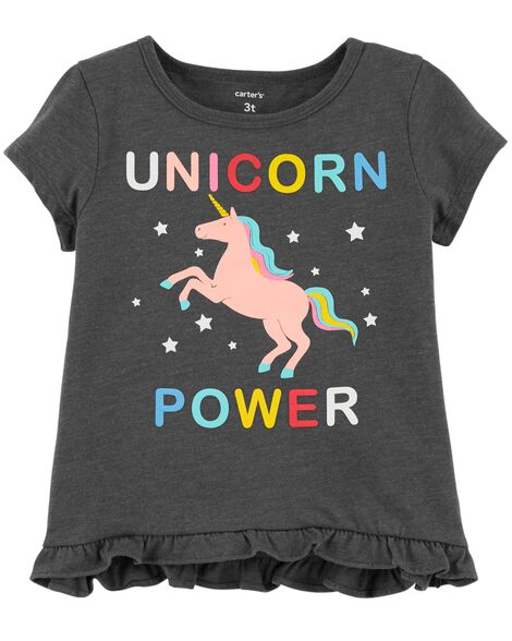 Display product reviews for Unicorn Power Hi-Lo Ruffle Tee